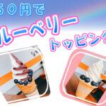 ソフトクリームハウスにてブルーベリートッピングが50円!